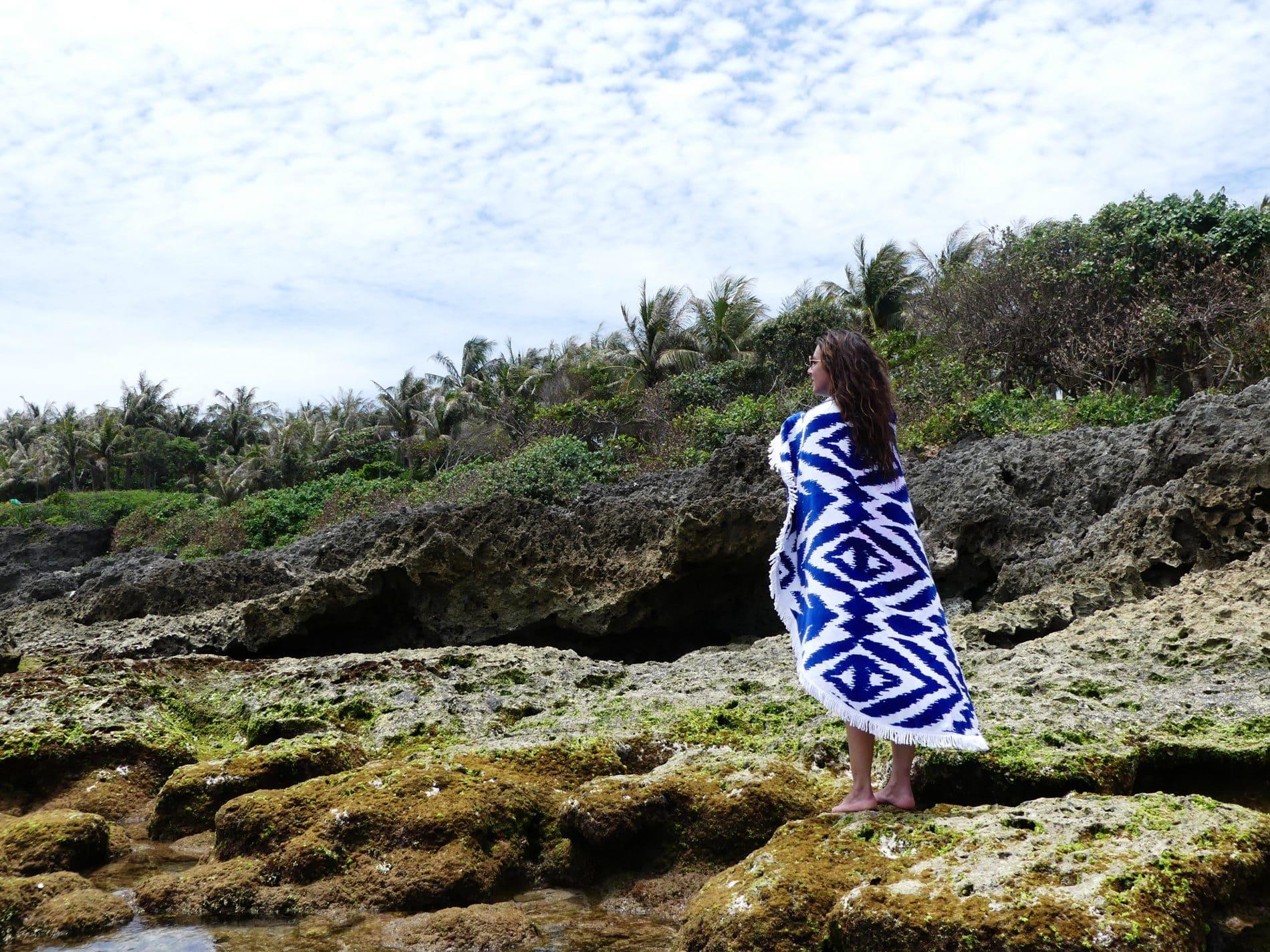 Mademoiselle Voyage-serviette de plage ethnique les Antillaises