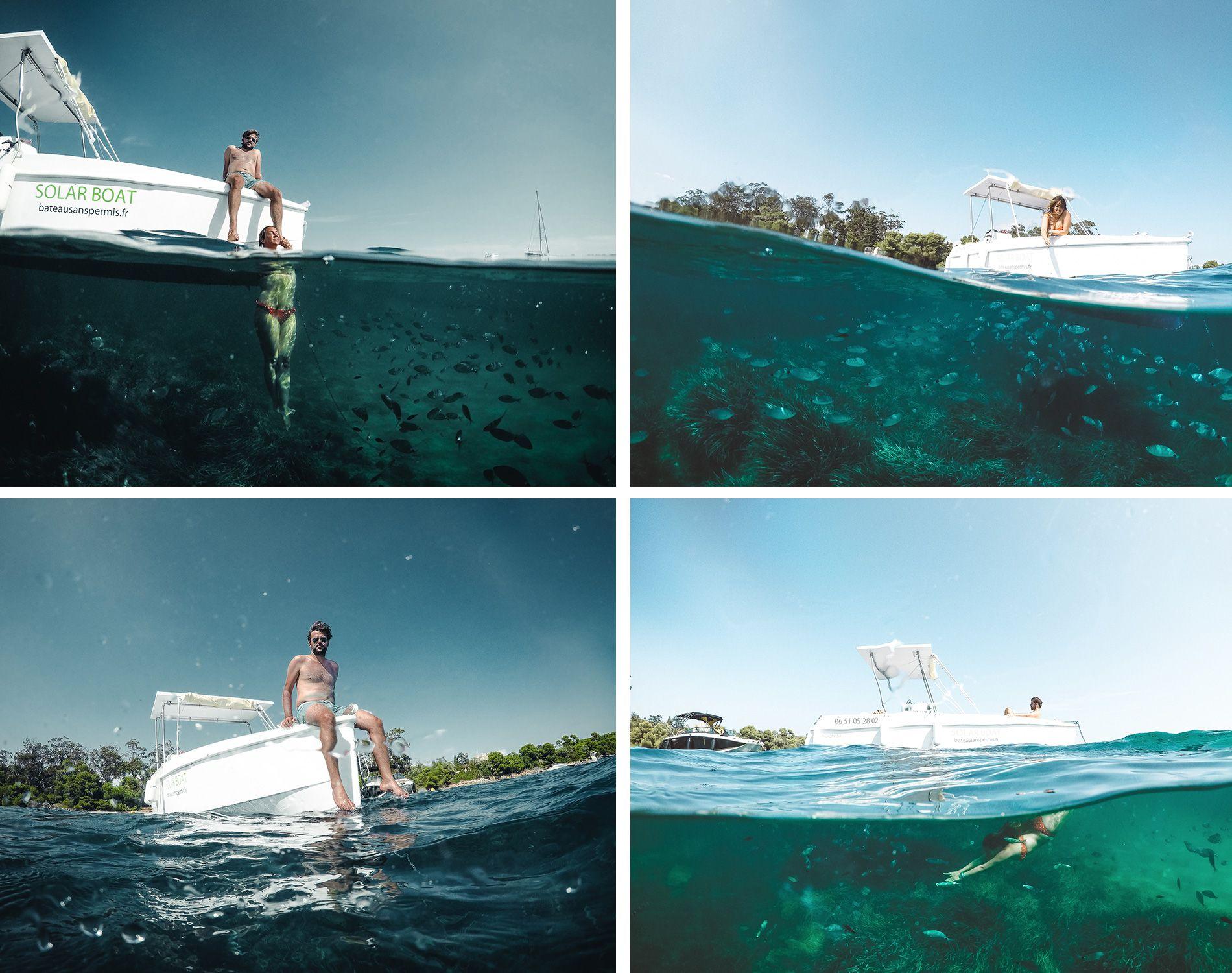 France | Cannes | location | bateau solaire | sans permis | îles lerins