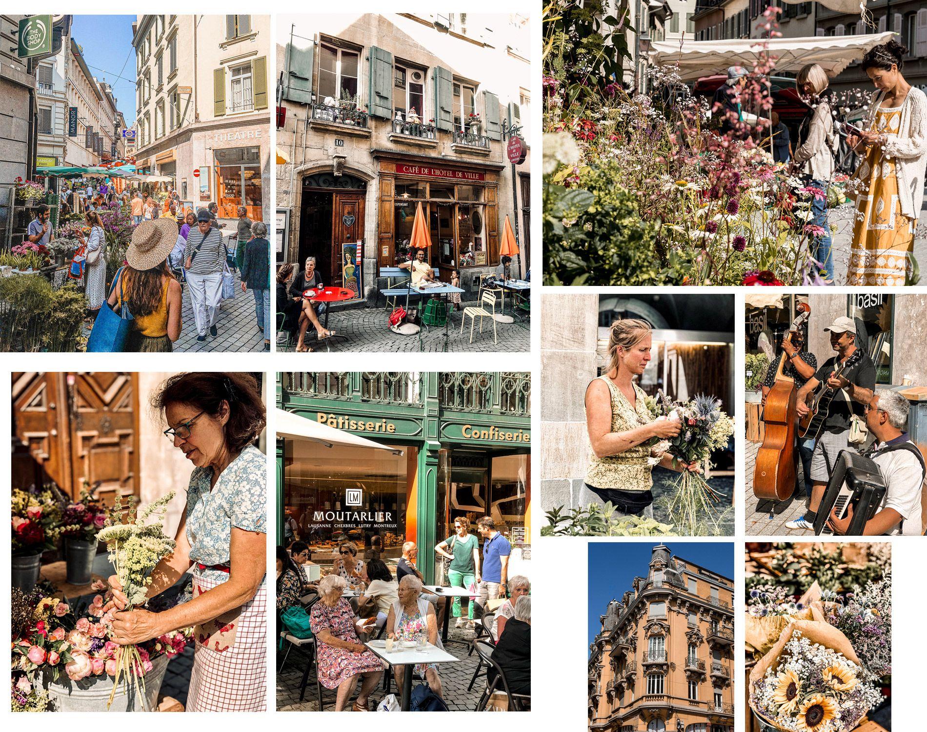Suisse | Lausanne | Centre-ville | marché de fleurs | Mademoiselle-voyage | conseils