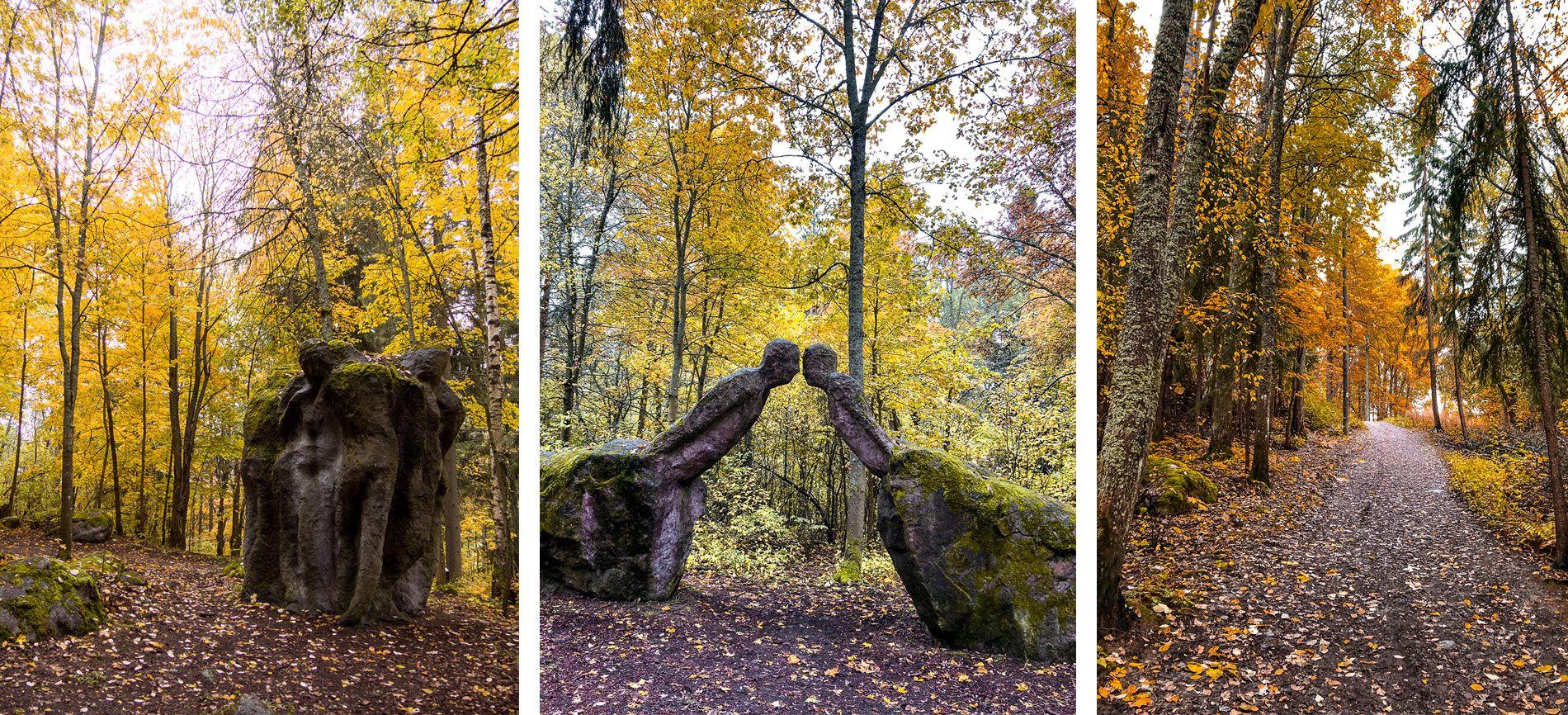 Finlande | automne | région grans lacs| lanu sculpture parc