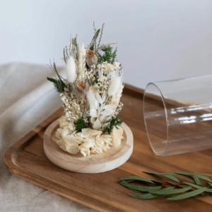 Cloche fleurs séchées flowrette eve
